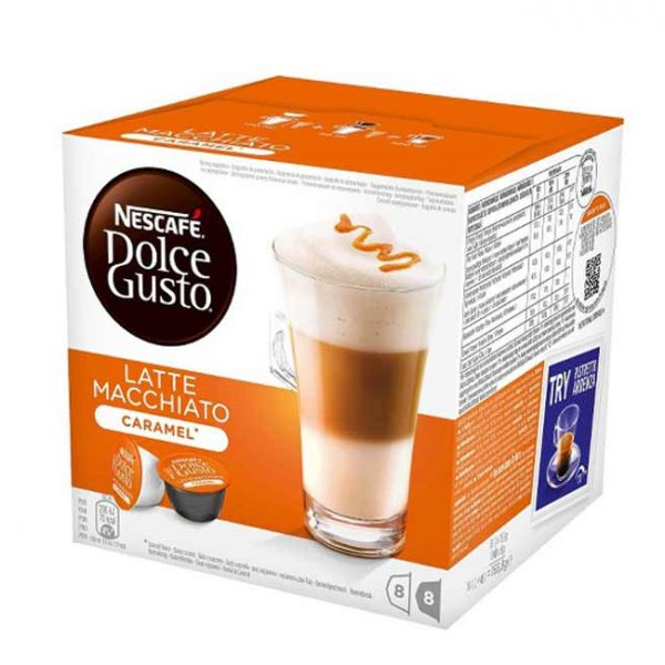 کپسول قهوه دولچه گوستو مدل لاته ماکیاتو کارامل Latte Macchiato Caramel